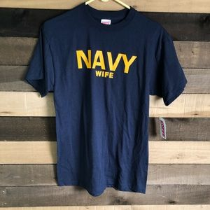 NWT Vintage Navy Wife Women's Shirt M fits L